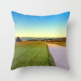 Autumn afternoon in the countryside | landscape photography Throw Pillow