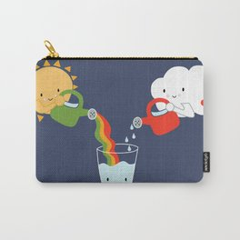 The Glass is Refillable Carry-All Pouch