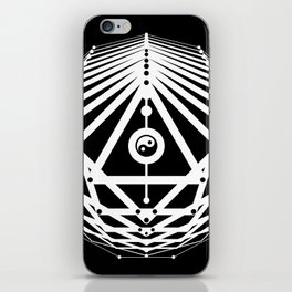 Radiant Abundance (black-white) iPhone Skin