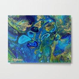 Ocean Jewel Abstract Metal Print