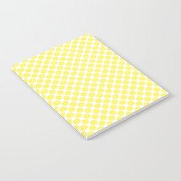 Yellow Lemon Fruit Slices Pattern Notebook