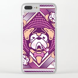 pug violette Clear iPhone Case