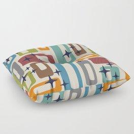 Retro Mid Century Modern Abstract Pattern 224 Floor Pillow