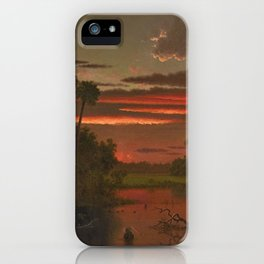The Great Florida Sunset by Martin Johnson Heade iPhone Case