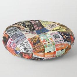 Springsteen Concert Posters Floor Pillow