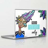 good vibes only Laptop & iPad Skins featuring Good vibes only by Andrea Silvestri