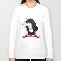 mia wallace Long Sleeve T-shirts featuring Pulp Fiction's Mia Wallace by raeuberstochter
