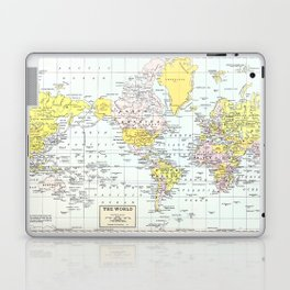 Vintage World Map Laptop & iPad Skin