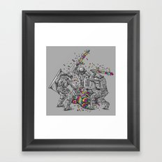 Police Brutality Framed Art Print