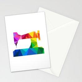 Geometric Sewing Machine Stationery Cards