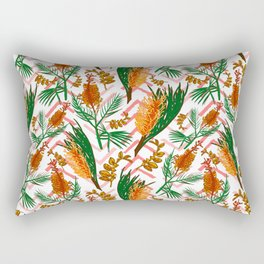 Beautiful Australian Native Floral Illustrations - Banksia Flowers Rectangular Pillow
