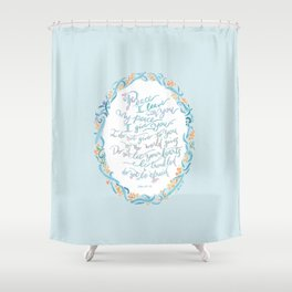 Peace I Leave with You - John 14:27 Shower Curtain
