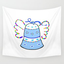 Blue Bell and Cloud Wall Tapestry