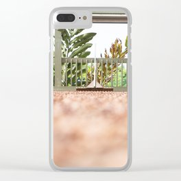 Coffee Plantation Clear iPhone Case