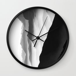 Creamy Mountains | Black & White Wall Clock