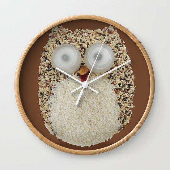 Specs, The Grainy Owl! Wall Clock
