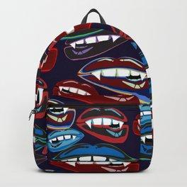 Funky Vampire Lips Backpack