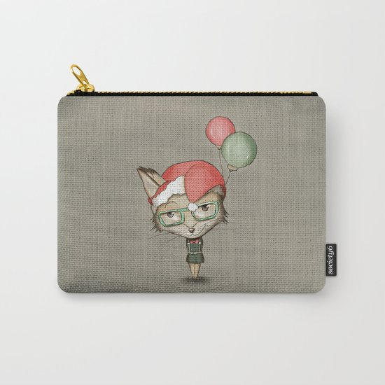 Christmas Fox Carry-All Pouch
