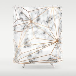 Marble & Gold 046 Shower Curtain