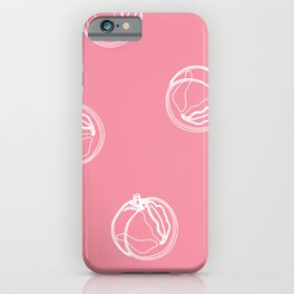 Pink Peaches iPhone Case