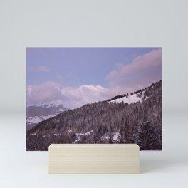 Purple Moutain Mont Blanc Mini Art Print