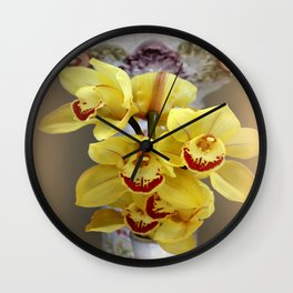 On...In Front Of...A Pedestal Wall Clock