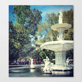 Fountain at Forsyth Canvas Print