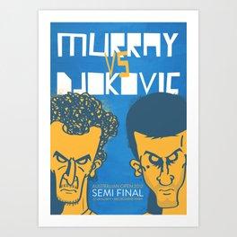 Murray vs Djokovic Art Print