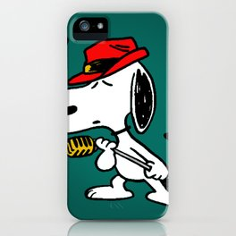 snoopy singing colorful iPhone Case