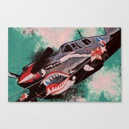 P40 Warhawk attack Canvas Print