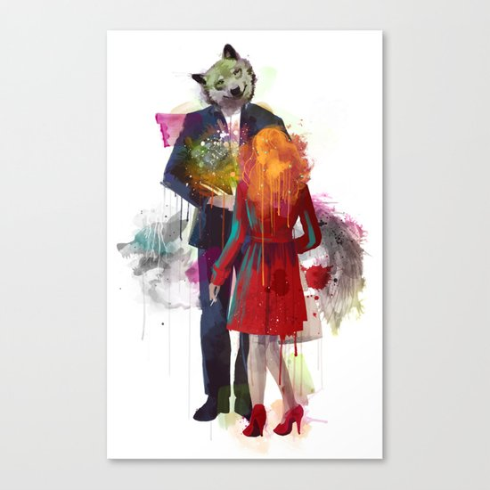Red Riding, I Am Not Your Wolf Canvas Print
