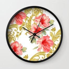 Scroll Azelea Wall Clock