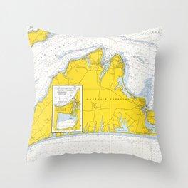 Vintage Map of Martha's Vineyard (1967) Throw Pillow