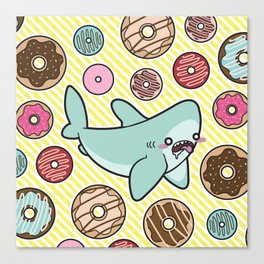 Drooling over Donuts Canvas Print