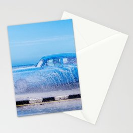 Waves and Classic Cars of the Malecón - 2 Stationery Cards