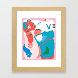 A Guccy Self Portrait Framed Art Print