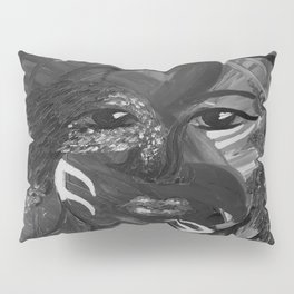 Flying Nature by Lu, black-and-white Pillow Sham