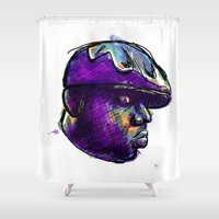 biggie Shower Curtains featuring Biggie Smalls by William Benitez