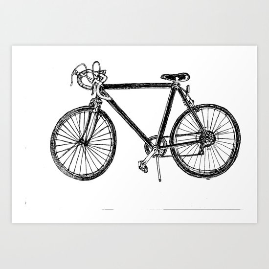 simple vintage bike Art Print