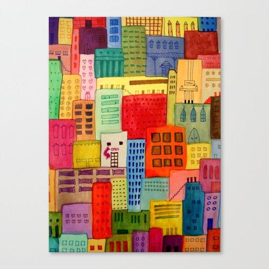 une ville à moi Canvas Print