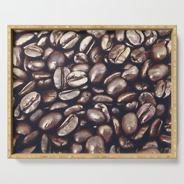 roasted coffee beans texture acrfn Serving Tray