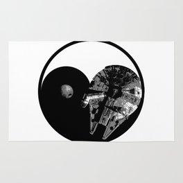 Millennium Falcon / Death Star Yin Yang Symbol Rug