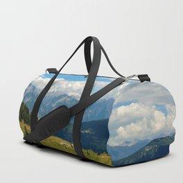 panorama cloudy alps serfaus fiss ladis tyrol austria europe Duffle Bag