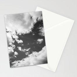 cloudy sky 3 bw Stationery Cards