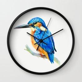 Kingfisher (watercolor) Wall Clock