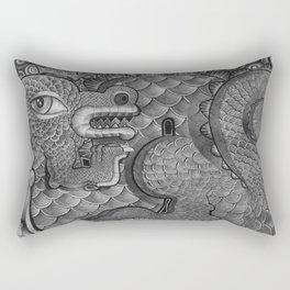 King Dragon Rectangular Pillow