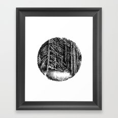 Wall of forest Framed Art Print