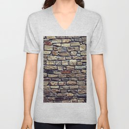 Brick Wall Pattern Unisex V-Neck