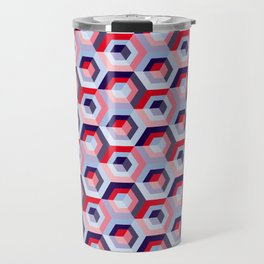 Pattern graphic cubes Travel Mug