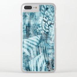 Blue safari Clear iPhone Case